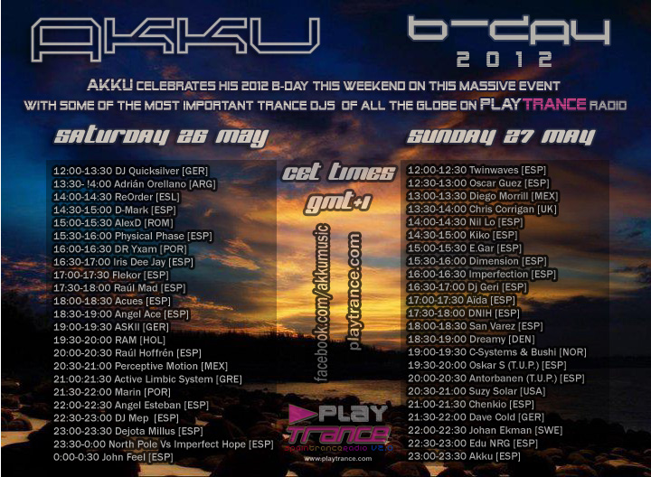 26 y 27 de mayo: Akku B-Day 2012 Massive Celebration