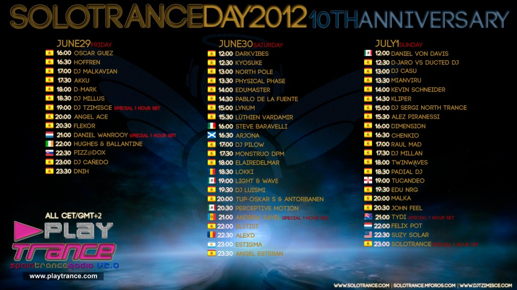 Solotrance Day 2012 Line-Up