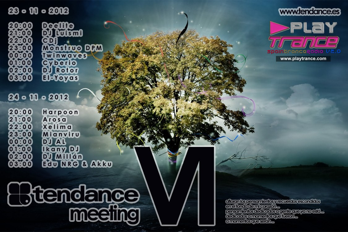 23 y 24 de noviembre: Tendance Meeting VI @ PlayTrance