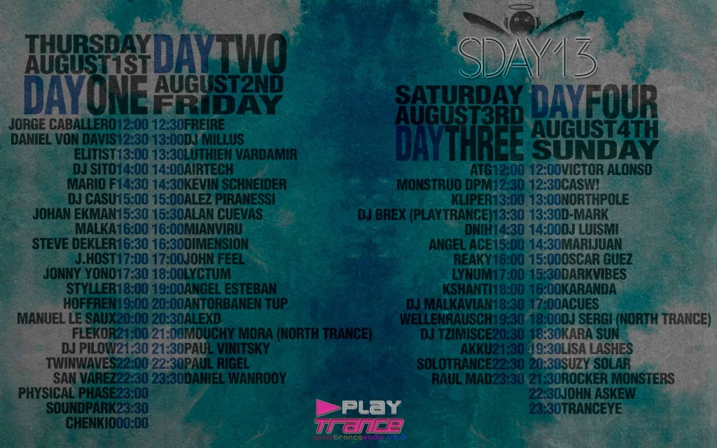 Solotrance Day 2013 Line-up