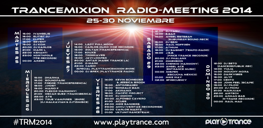 Trancemixion Radio-Meeting 2014 Cartel