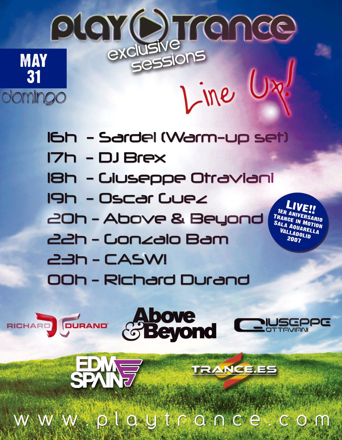 30 may: PlayTrance Exclusive Sessions 2015 junto con Trance.es y EDM Spain Trance